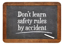 Do not learn safety rules by accident Royalty Free Stock Photo