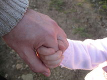 Do not Leave. Love to know the most valuable thing a man. The child - the joy of life Stock Photo