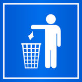 Do not litter blue sign Stock Image
