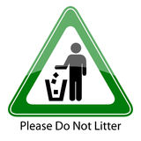Do not litter sign Stock Photography