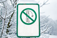 Do not litter sign Royalty Free Stock Images