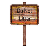 Do not litter sign Stock Images
