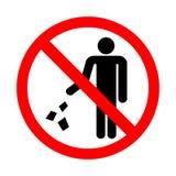 Do not litter sign. Vector illustration on a white background royalty free illustration
