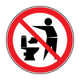 Do not litter in toilet icon 1 Stock Image