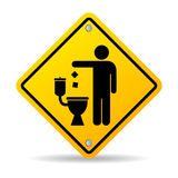 Do not litter in toilet Royalty Free Stock Photos