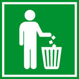 Do not litter royalty free illustration