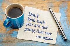 Do not look back advice Royalty Free Stock Photography