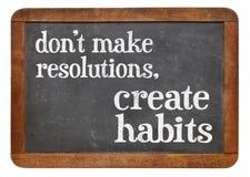 Do not make resolutions blackboard sign stock image