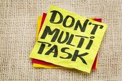 Do not multitask Stock Image