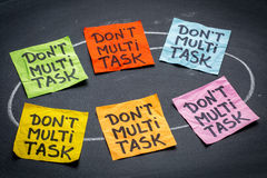 Do not multitask - sticky note abstract Royalty Free Stock Image