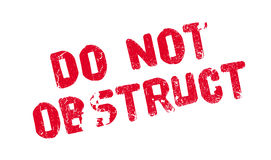 Do Not Obstruct rubber stamp Royalty Free Stock Images