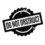 Do Not Obstruct rubber stamp Stock Photos