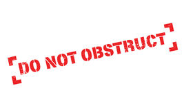 Do Not Obstruct rubber stamp Royalty Free Stock Image