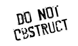 Do Not Obstruct rubber stamp Stock Photo