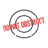 Do Not Obstruct rubber stamp Royalty Free Stock Photo