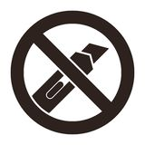 Do not cut icon royalty free illustration