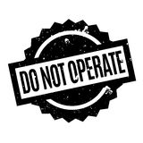 Do Not Operate rubber stamp. Grunge design with dust scratches. Effects can be easily removed for a clean, crisp look. Color is easily changed Royalty Free Stock Photo