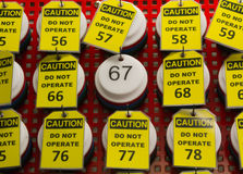 Do not operate tag. Stock Image