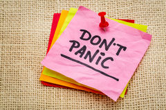 Do not panic on sticky note Royalty Free Stock Images