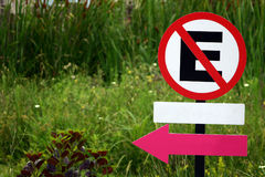 Do not park - Brazilian road sign Stock Image