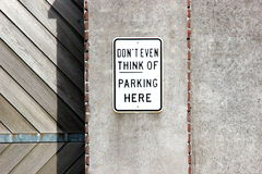 Do not park here Stock Images