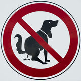 Do not poop dog sign Royalty Free Stock Image