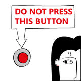 Do Not Press This Button Stock Image