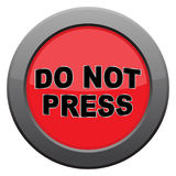 Do Not Press Dark Metal Icon. A do not press icon isolated on a white background vector illustration
