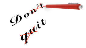 Do not quit concept Royalty Free Stock Photo