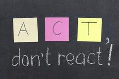 Do Not React Royalty Free Stock Image