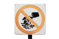 Do not release aquatic animals sign Royalty Free Stock Photos