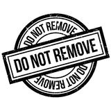 Do Not Remove rubber stamp Stock Photo