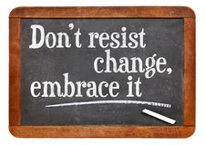 Do not resist change Royalty Free Stock Photos