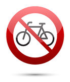 Do not ride bicycle Stock Photo