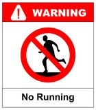 Do not run, prohibition sign. Running prohibited, vector illustration. Stock Photo