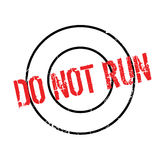 Do Not Run rubber stamp Stock Image