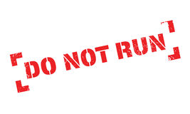Do Not Run rubber stamp Royalty Free Stock Photo