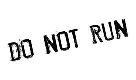 Do Not Run rubber stamp Stock Photo