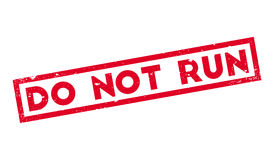 Do Not Run rubber stamp Royalty Free Stock Images
