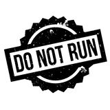 Do Not Run rubber stamp Stock Images