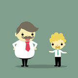 Do not say. One businessman is gag was abused by boss who is huge businessman Royalty Free Stock Photo