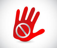 Do not sign on a handprint illustration Royalty Free Stock Image