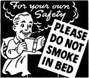 Do Not Smoke In Bed Royalty Free Stock Images