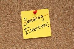 Do not smoke exercise Royalty Free Stock Image