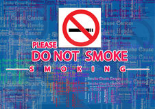 Do not smoke. Images for Colorful Banner Background. Use for print, Banner, Poster stock illustration