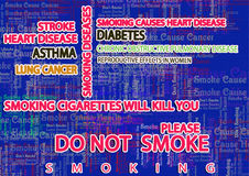 Do not smoke. Images for Colorful Banner Background. Use for print, Banner, Poster Stock Photo