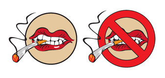 Do not smoke. Place for Royalty Free Stock Photo