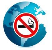 Do not smoke sign illustration design over a globe Stock Photos