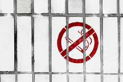 Do not smoke sign on the wall Royalty Free Stock Photography