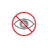Do not spy line icon, prohibition sign, forbidden Stock Photos